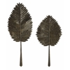 Creative Cleopatra Leaves, Green, Set Of 2