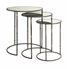 Set of 3 Flouressa Mirror Top Nesting Tables