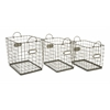 Set of 3 Utility New bridge Wire Storage Baskets