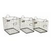 Set of 3 Utility New bridge Wire Storage Baskets