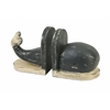 Smart Styled Jonah Wood Carved Whale Bookends
