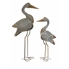 Elegant Fairfax Metal Cranes - Set of 2