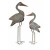 Elegant Fairfax Metal Cranes - Set of 2