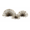 Appealing Set of 3 Laserette Wire Flower Wall Decor