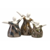 Classy Familia Mexican Pottery Statuaries, Assorted, Set Of 3