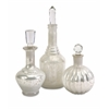 Styled Curran Glass Bottles w/ Stoppers - Set of 3