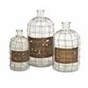 Alluring Dimora Wire Caged Bottles - Set of 3