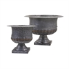 Carey Galvanized Urns, Galvanized Gray, Set Of 2