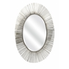 Fabulous Navio Silver Leaf Abstract Wall Mirror