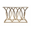 Ravishing Ranada Mirror Top Console Table, Golden