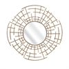 Estaire Dimensional Wall Mirror, Golden