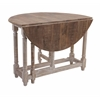 Stylish Kinsey Drop Leaf Table, Brown and Off-white