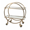 Marvelous Murphey Stainless Steel Bar Cart, Golden