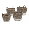 Spectacular Danica Willow Baskets, White and Brown, Set Of 4