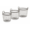 Elegant Metro Wire Baskets - Set of 3