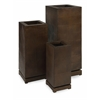 Astounding CKI Tall 5th Avenue Planters, Shades Of Brown, Set Of 3