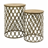 Unique Styled Maridell Nesting Tables - Set of 2