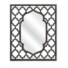 Attractive Aidan Rectangular Wall Mirror, Navy blue