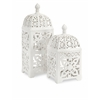 Elegant Maya TLight Lantern, Shades Of White, Set Of 2