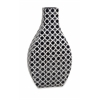 Layla Large Pattern Vase, Black and Ivory