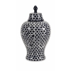 Layla Large Urn, Black and White