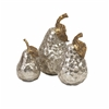Elegant Lambert Gold and Silver Pears, Silver and Golden, Set Of 3