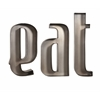 Eat Metal Wall Letters
