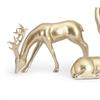 Reindeer- Gold -Left, Gold