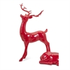 Playful Reindeer- Red (antlers KD)-Standing, Red