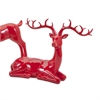 Playful Reindeer- Red (antlers KD)-Sitting