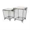 Ava Cage Tables, White and Black, Set Of 2