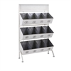 Tinker Storage Bin Rack, Galvanized Gray