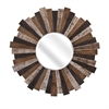 Wood Starburst Mirror, Natural Wood