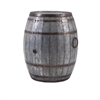 Vineyard Wine Barrel Storage Table, Rustic Brown