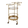 Beth Kushnick Bar Cart, Gold