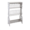 Ella Elaine Plate Rack, White and Brown
