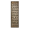 Elegant Styled Live Love Laugh Wall Decor