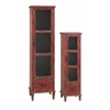 Trendy Housont Cupboards, Red, Set Of 2
