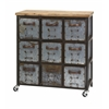 Stylish Holloway 9-Drawer Cabinet, Natural brown