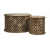 Beautiful Abdalla Carved Wooden Tables - Set of 2