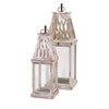 Ramsey Lanterns, Washed-out White, Set Of 2