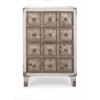 Durable Pauline Chest of Drawers, Natural Wood & White