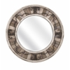 Beautiful Sylvia Metal and Wood Mirror, Shades of brown