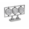 Gomez White Globes, Sparkling Silver