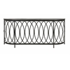 Trendy Riana Metal Console Table, Black