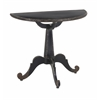 Semi-Circle Liberty Metal Console Table, Black