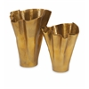 Elegant Dagny Vases, In Shades Of Golden, Set Of 2