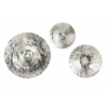 Alluring Fassett Oversized Disc, Shades Of Silver, Set Of 3