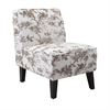Nadine Armless Chair, Off-white, brown