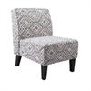 Simba Armless Chair, White, Gray, Black